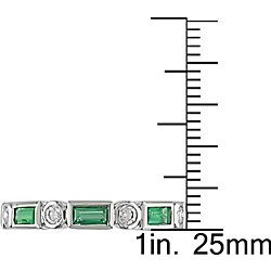 14k Gold 1/3ct Diamond and Emerald Eternity Band
