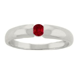 10k Gold Garnet January Birthstone Ring
