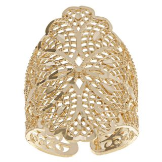 10k Yellow Gold Monte Crista Collection Filigree Adjustable Cigar Band