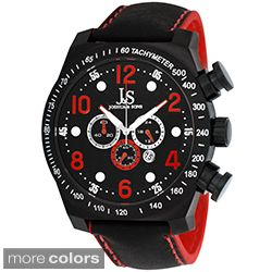 Joshua & Sons Mens Oversized Chronograph Stainless Steel Sport Watch