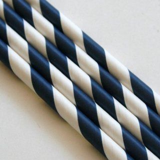 Paper Straws Pack of 144  Navy Blue
