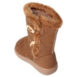 Journee Kids Girls H3 Side Toggle Accent Boots
