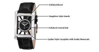 Stuhrling Original Mens 144D.33151 Classic Gatsby Swiss Quartz Black