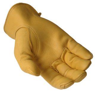 Daxx Mens Top Grain Deerskin Leather Mule Wildlife Print Gloves