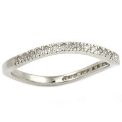Beverly Hills Charm Silver 1/6c DW Curved Diamond Band MSRP $125.00