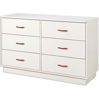 Pure White Contemporary 6 drawer Dresser