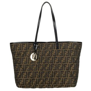 Fendi 8BH185 Medium Canvas Zucca Tote Bag