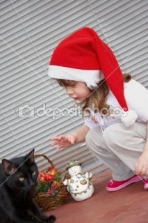 Little girl and black cat  Stock Photo © Svitlana Pavzyuk #1508560