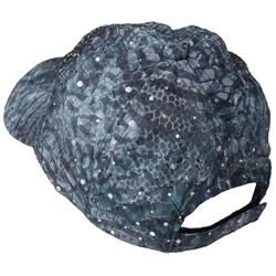 Journee Collection Womens Snake Print and Sequin Accent Baseball Cap
