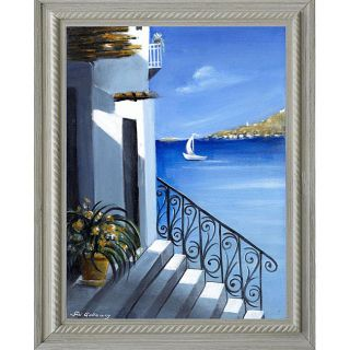 Susi Galloway A Greek Afternoon Framed Canvas Art