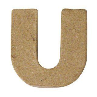 RAYHER   Pappmaché Mini Buchstaben, 4x1,5 cm, A