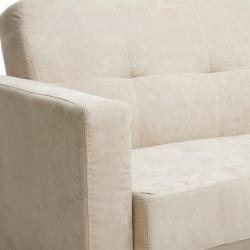 Braedon Tan Microfiber Adjustable Futon Sofa Sleeper