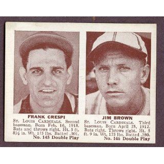 1941 Double Play #145/146 Frank Crespi/Jim Brown EX 199412