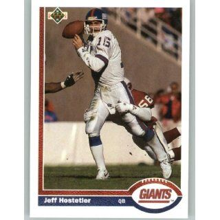1991 Upper Deck #156 Jeff Hostetler   New York Giants (Football Cards)