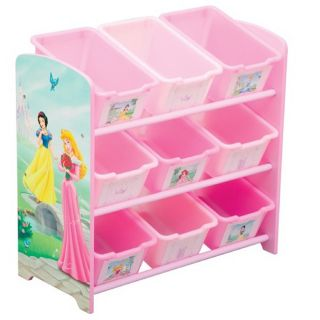 Disneys Princesses Nine bin Plastic Toy Organizer