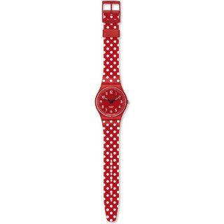 Swatch Womens Originals GR154K Red Plastic Quartz Watch with Red Dial