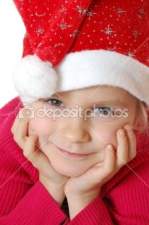 Cute little smiling Santa girl  Stock Photo © Cherry Merry #1555525