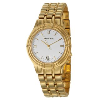 Bulova Accutron Mens Yellow Gold plated Stainless Steel Watch