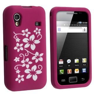 Hot Pink Hawaii Flower Silicone Case for Samsung Galaxy Ace GT S5830