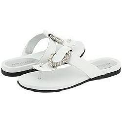 Aerosoles Disco Dance White Leather Sandals