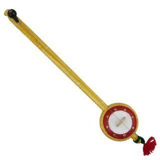 Iktara Folk Indian Music Instrument Single String, Yellow