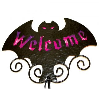 Sienna Halloween Bat Welcome Sign