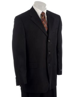 Sean John Mens Navy Stripe 3 button Suit
