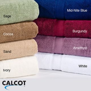 Calcot Supima Cotton Zero Twist 3 piece Bath Towel Set