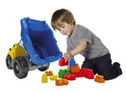 Mega Bloks Filln Dump Truck Play Set
