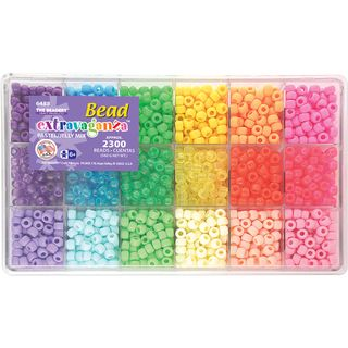 Giant Bead Box Kit 2300 Beads/Pkg Pastel & Jelly