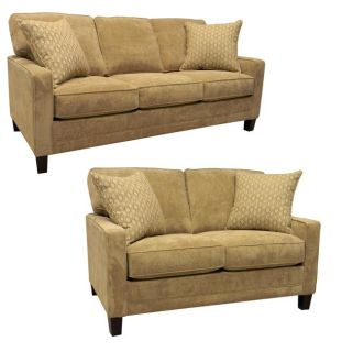 Liberty Sand Fabric Sofa and Loveseat