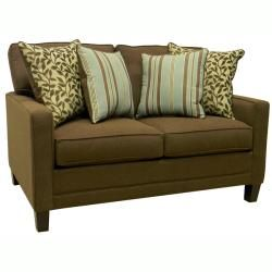 Summit Brown Fabric Sofa Bed Sleeper and Loveseat