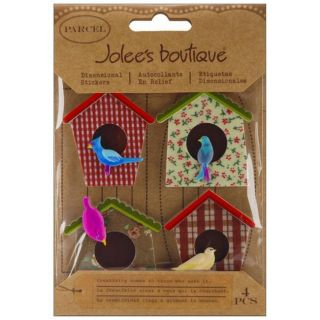Jolees Boutique Parcel Bird Houses Dimensional Stickers
