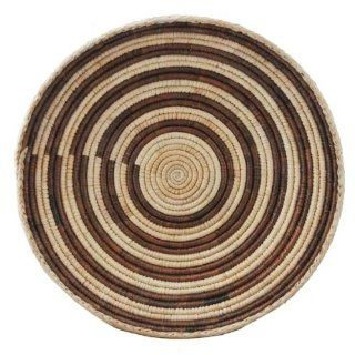 Straw Basket, Fruit Basket, African Straw Plate, #228 Everything Else