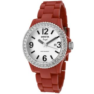 Invicta Womens Angel Red Plastic Watch