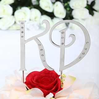 Gorgeous Rhinestone Monogram Wedding Cake Topper    $ 9.99