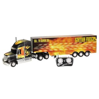 World of Wheels Flames RC Tractor Trailer