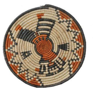 Straw Basket, Fruit Basket, African Straw Plate, #237 Everything Else