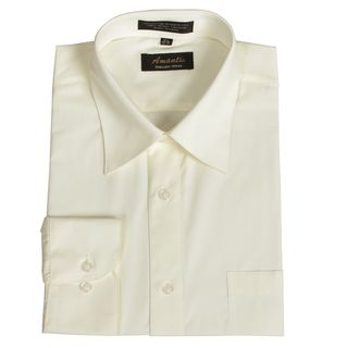 Amanti Mens Wrinkle free Off white Dress Shirt