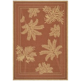 Indoor/ Outdoor Brick Red/ Natural Rug (9 x 12)