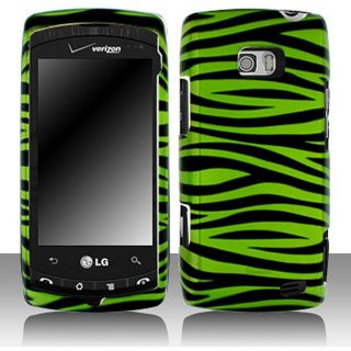 LG Ally VS740 Green Zebra Snap on Protective Case