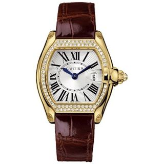 Cartier Roadster Womens Yellow Gold Diamond Watch