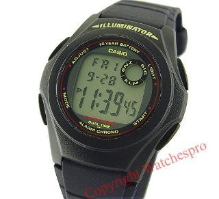 CASIO Digital Multi Alarm LED Resin Band Watch F 200W 1 Watches