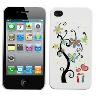 Premium Apple iPhone 4/4S Lovers Tree Slim Protector Case