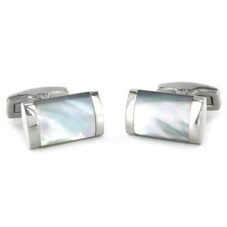 West Coast Jewelry Stainless Steel White Mother of Pearl Inlay