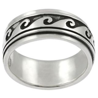 Tressa Sterling Silver Wave Spinner Ring