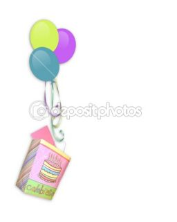 Birthday Border balloons  Stock Photo © Irisangel #2126778