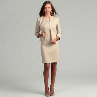 Anne Klein Womens Latte Bolero Jacket Dress