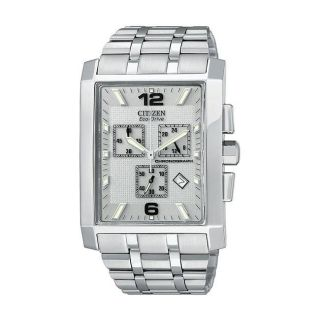 Citizen Eco Drive Largo Chronograph Mens Stainless Steel Watch