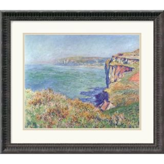 Claude Monet The Cliff at Varengeville, 1882 Framed Art Print